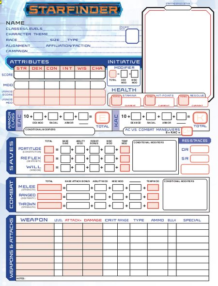 image about Starfinder Character Sheet Printable known as Exquisite Persona Sheets (by means of Talon Dunning) Starfinder